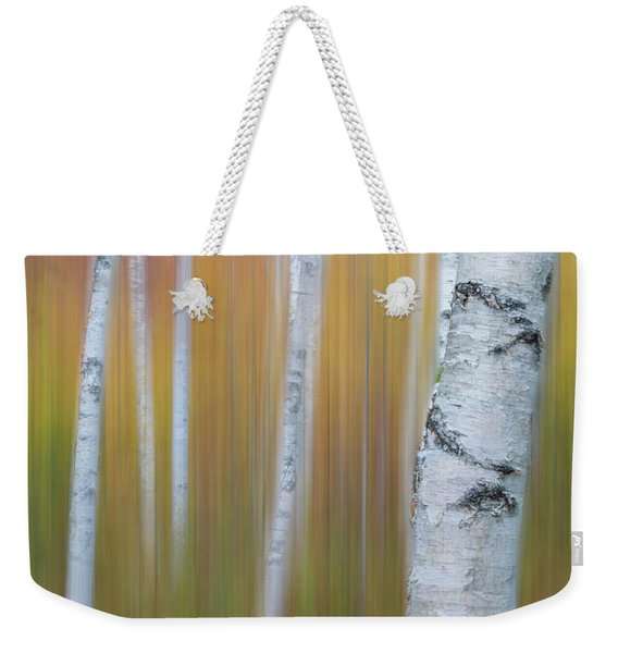 Autumn Birch Impressions Weekender Tote Bag