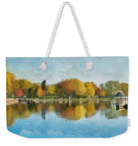 Autumn Blues Weekender Tote Bag