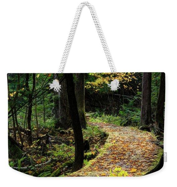 Autumn Boardwalk Weekender Tote Bag