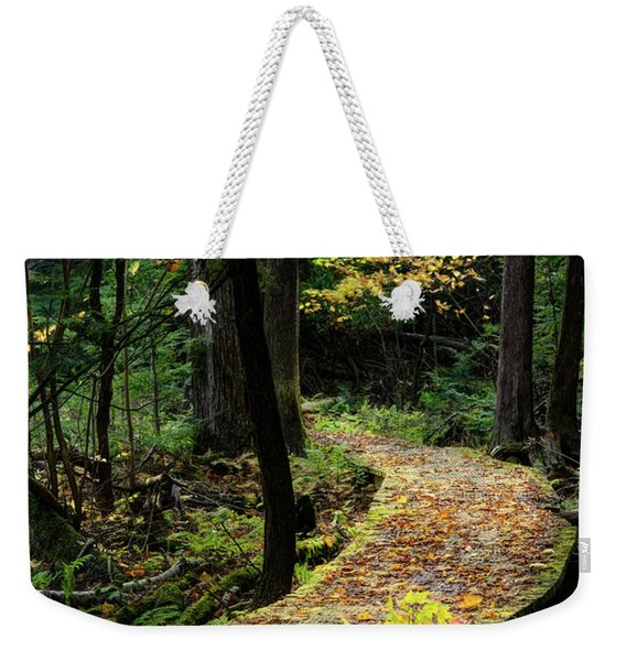 Autumn Boardwalk Weekender Tote Bag