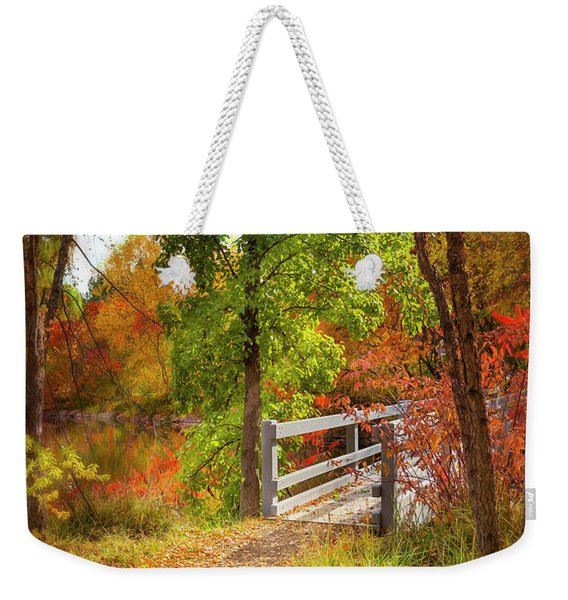 Autumn Bridge Weekender Tote Bag