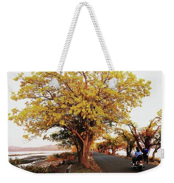 Autumn Causeway Weekender Tote Bag