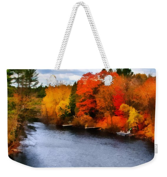 Autumn Channel Weekender Tote Bag