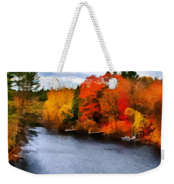 Autumn Channel Weekender Tote Bag