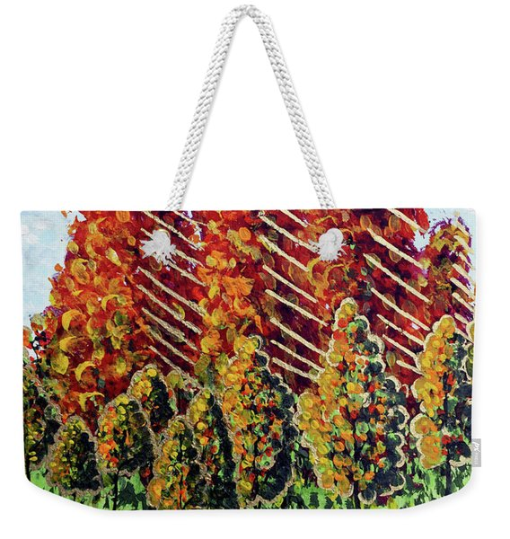 Autumn Christmas Weekender Tote Bag
