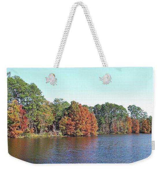 Autumn Color At Ratcliff Lake Weekender Tote Bag