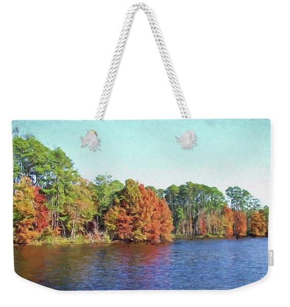 Autumn Color At Ratcliffe Lake Weekender Tote Bag