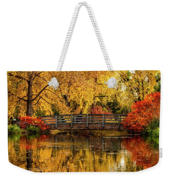 Autumn Color By The Pond Weekender Tote Bag