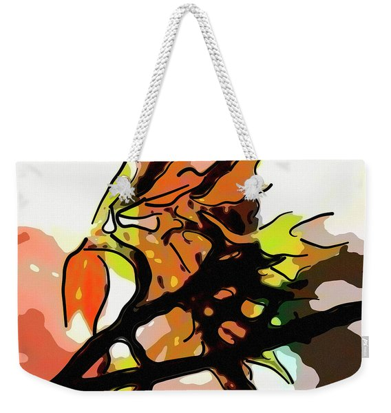 Autumn Colors Abstract Weekender Tote Bag