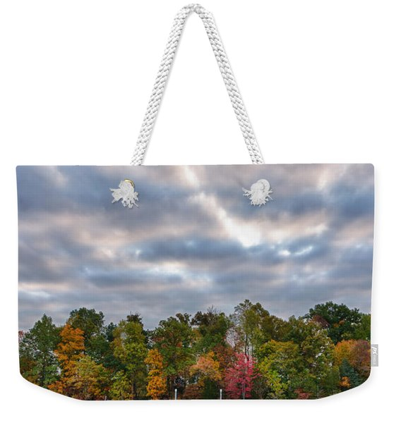Autumn Colors At The Lake Weekender Tote Bag
