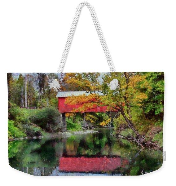 Autumn Colors Over Slaughterhouse. Weekender Tote Bag