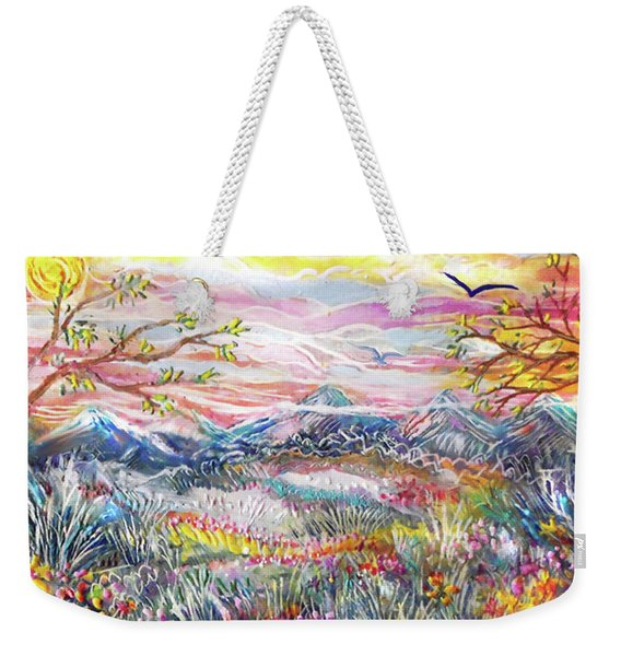 Autumn Country Mountains Weekender Tote Bag