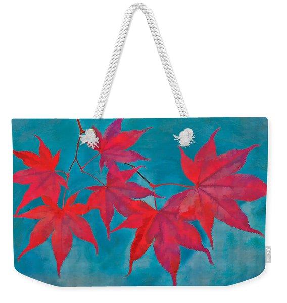 Autumn Crimson Weekender Tote Bag