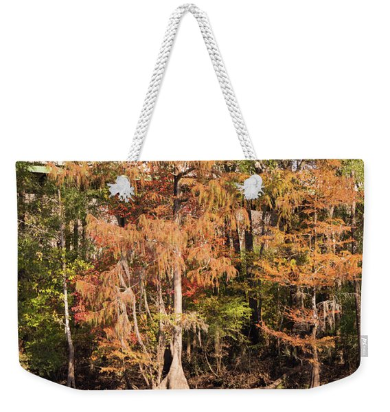 Autumn Cypress Trees On The Waccamaw Weekender Tote Bag
