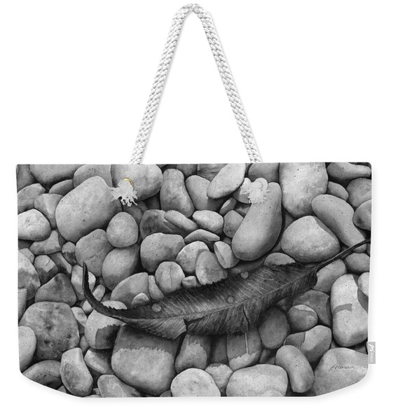 Autumn Epilogue On Black Weekender Tote Bag