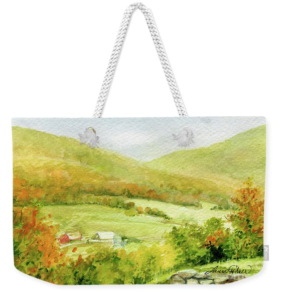 Autumn Farm In Vermont Weekender Tote Bag