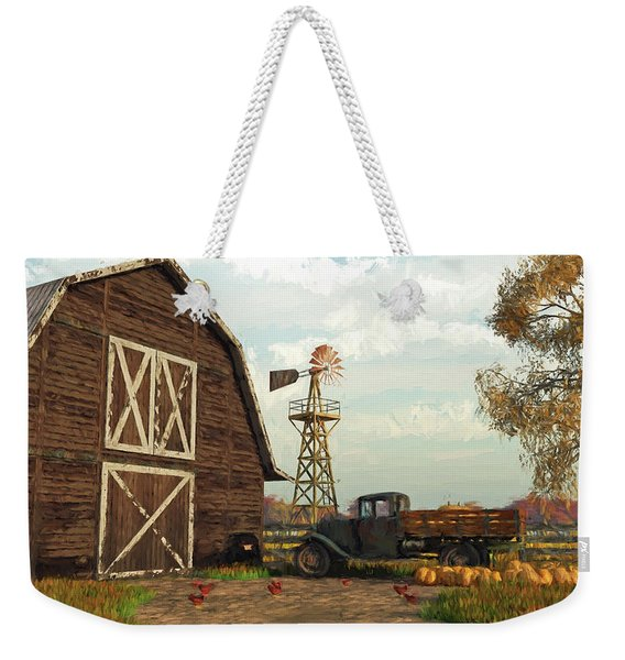 Autumn Farm Scene Weekender Tote Bag