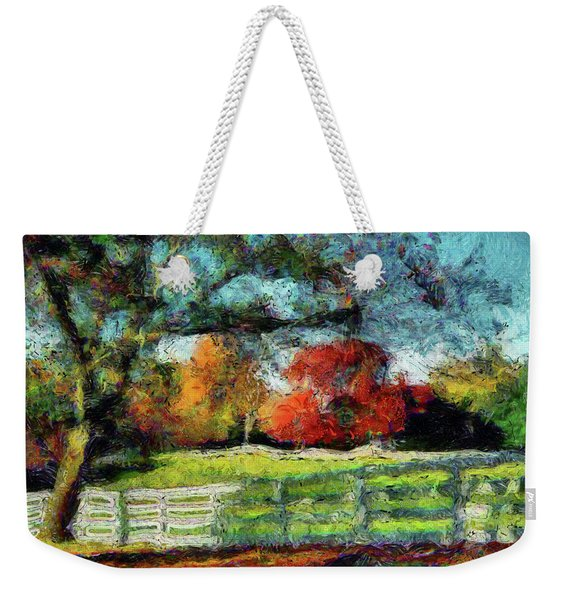 Autumn Field On The Farm Weekender Tote Bag