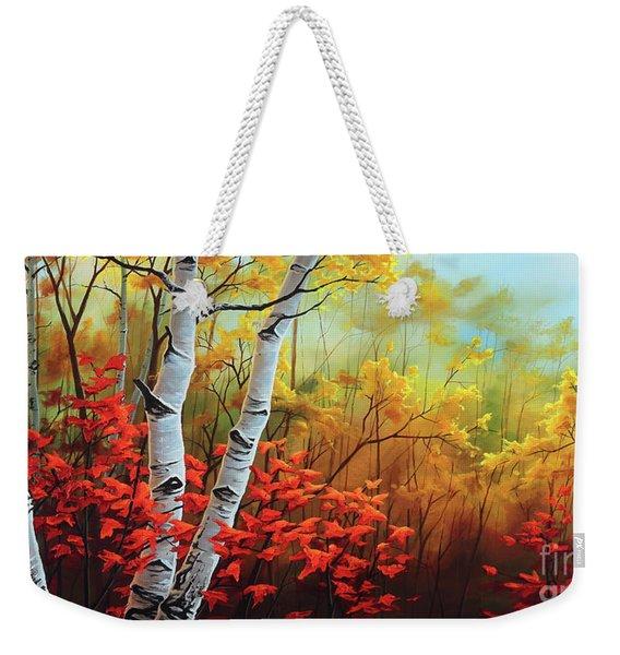 Autumn Fire Weekender Tote Bag