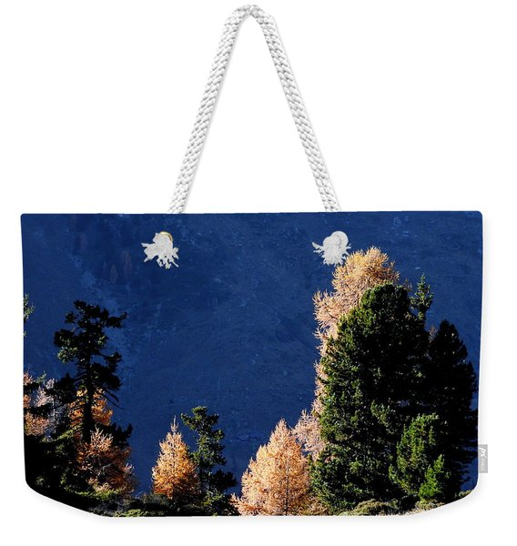 Autumn Forest In The Mountains Weekender Tote Bag