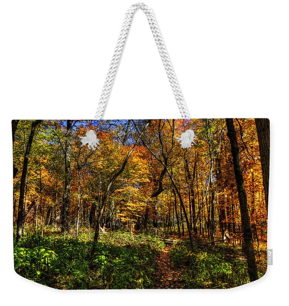 Autumn Forest Path At Johnson's Mound Weekender Tote Bag