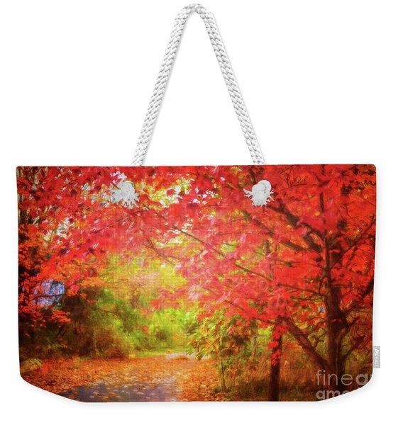 Glorious Foliage On The Rail Trail Weekender Tote Bag