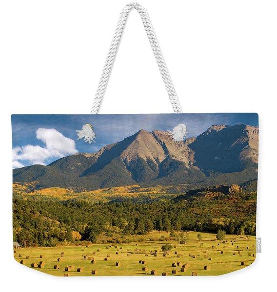 Autumn Hay In The Rockies Weekender Tote Bag