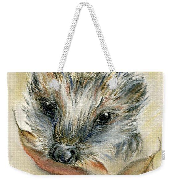 Autumn Hedgehog Weekender Tote Bag