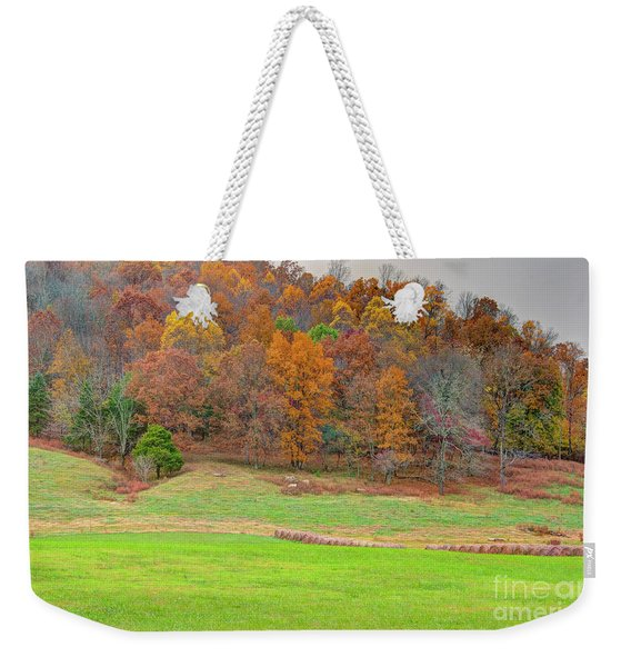 Autumn Hillside Weekender Tote Bag