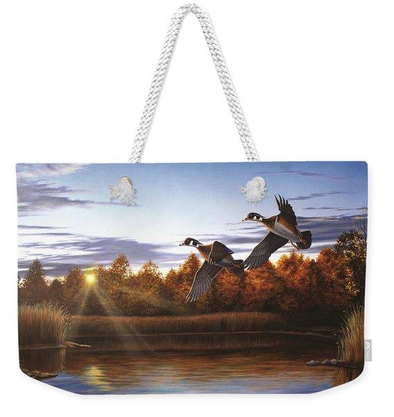 Autumn Home - Wood Ducks Weekender Tote Bag