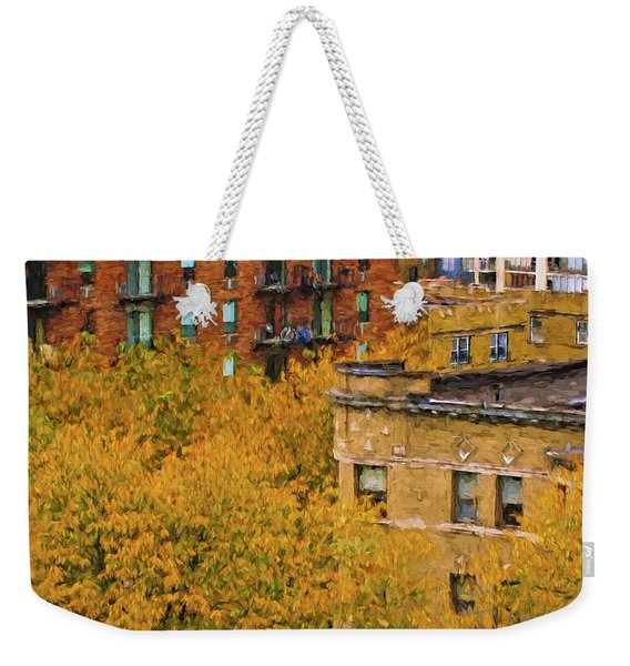 Autumn In Chicago Weekender Tote Bag