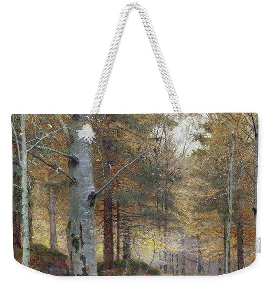 Autumn In The Woods Weekender Tote Bag