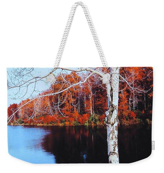 Autumn Lake Weekender Tote Bag