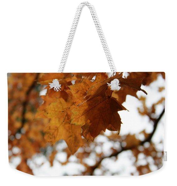 Autumn Leaves- By Linda Woods Weekender Tote Bag