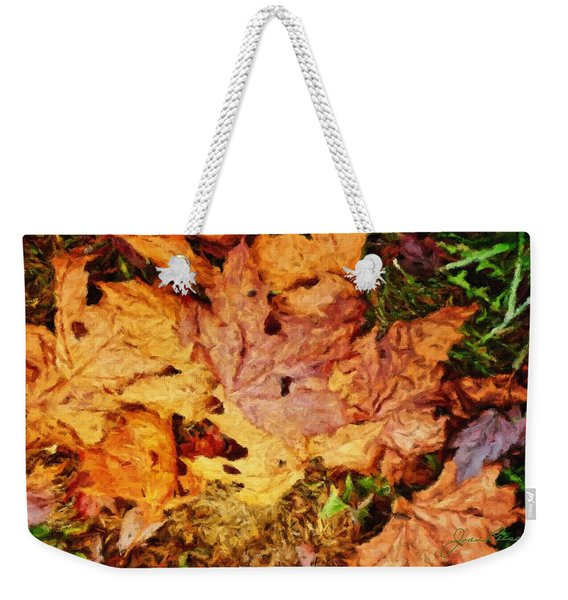 Autumn Leaves Weekender Tote Bag
