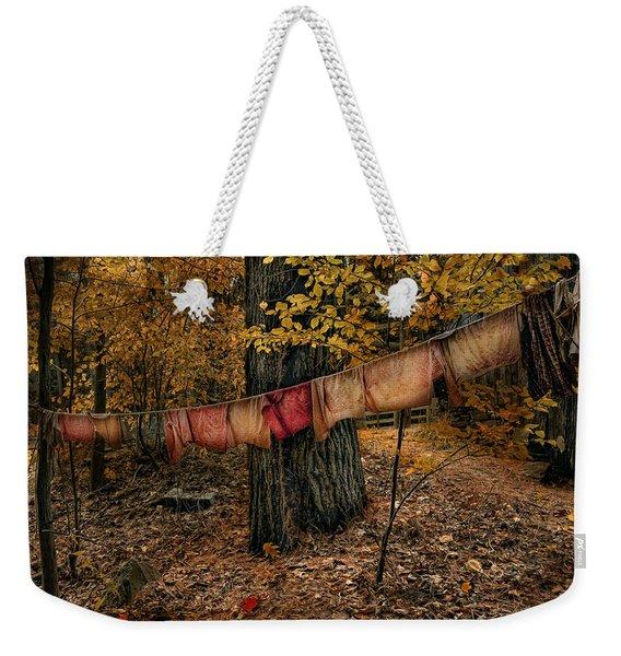 Autumn Linens Weekender Tote Bag