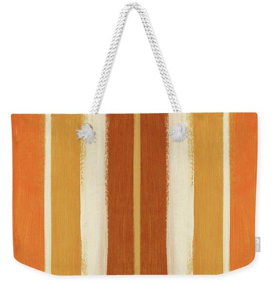 Autumn Lines Double- Art By Linda Woods Weekender Tote Bag