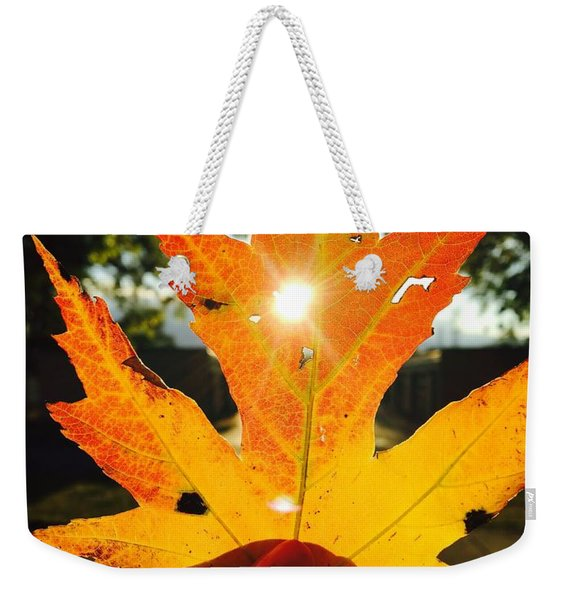 Autumn Maple Leaf Weekender Tote Bag