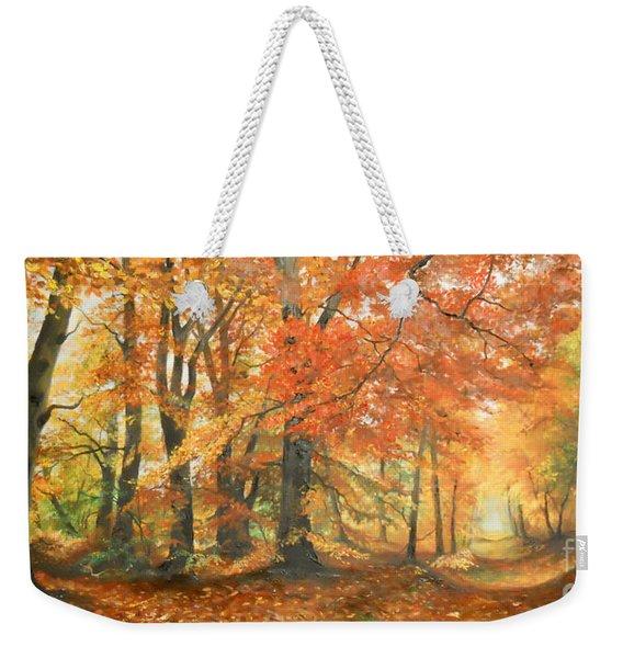 Autumn Mirage Weekender Tote Bag