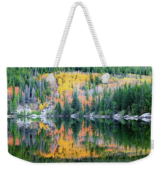 Autumn Mirror At Bear Lake Weekender Tote Bag