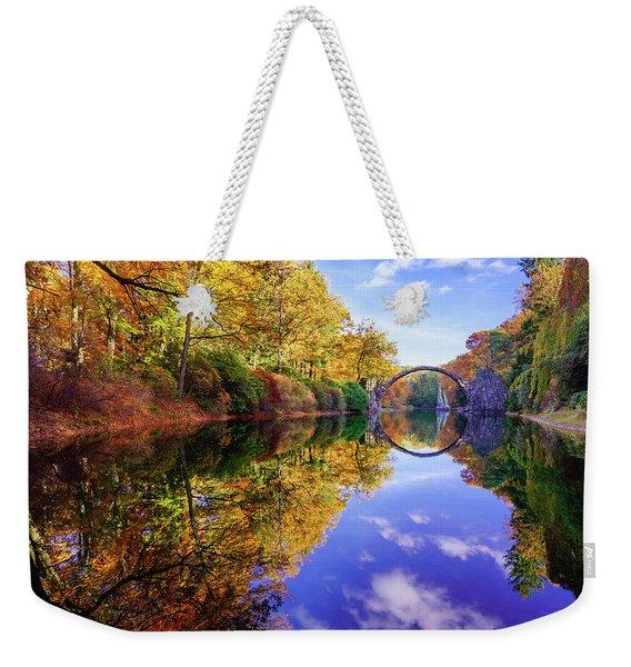 Autumn Mirror Weekender Tote Bag