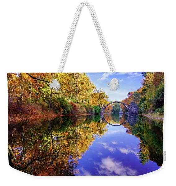 Weekender Tote Bag featuring the photograph Autumn Mirror by Dmytro Korol