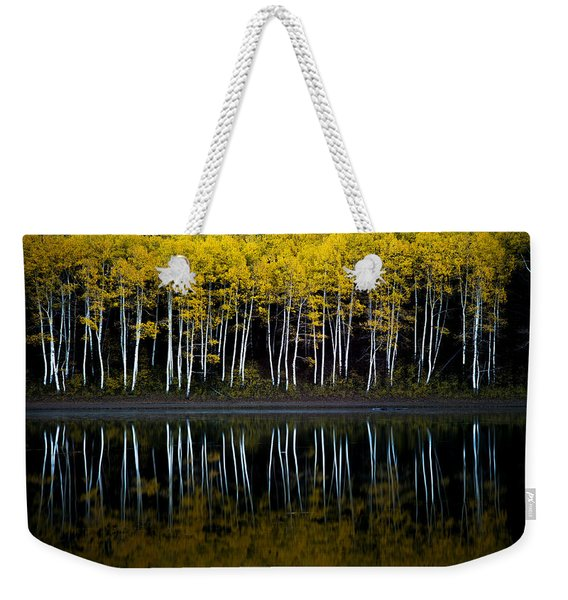 Autumn Mirror Weekender Tote Bag