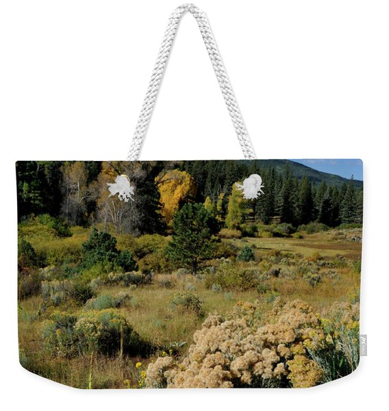 Weekender Tote Bag featuring the photograph Autumn Morning In The Canyon by Ron Cline