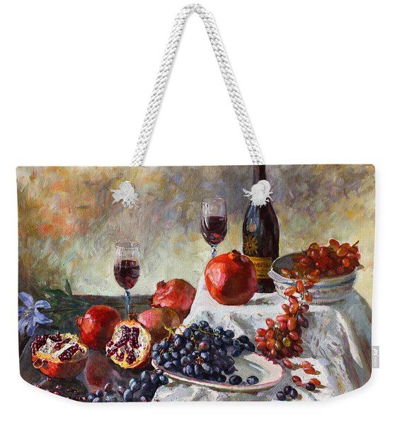 Autumn N' A Flower Weekender Tote Bag