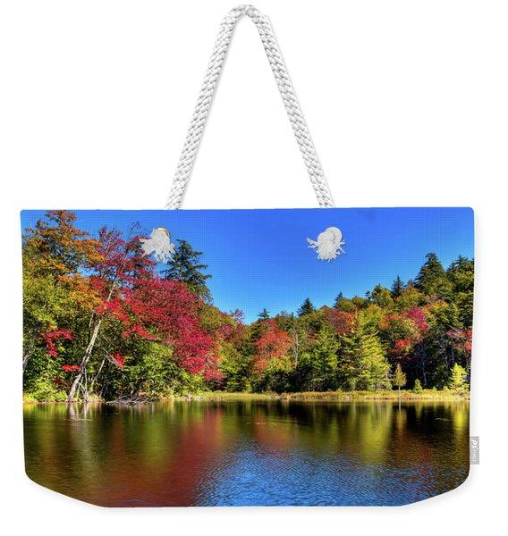 Autumn On 7th Lake Weekender Tote Bag