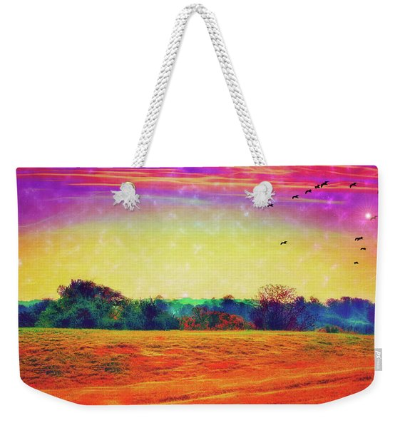 Autumn On Earth Two Weekender Tote Bag