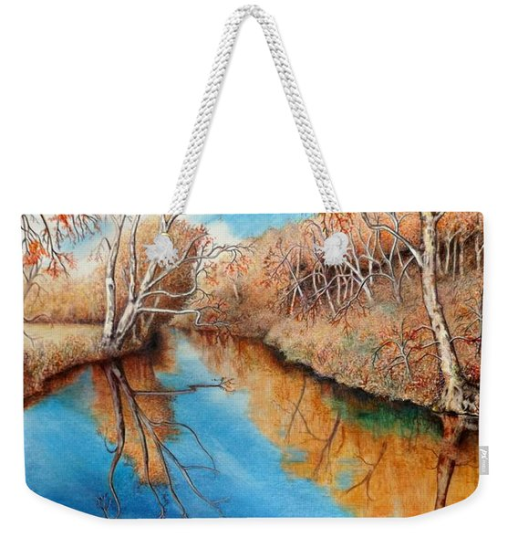 Autumn On The Elkhorn Weekender Tote Bag