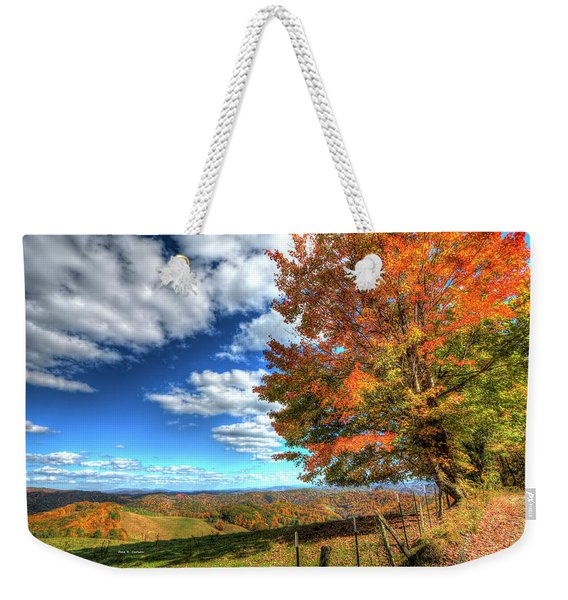 Autumn On The Windfall Weekender Tote Bag