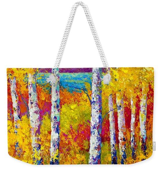 Autumn Patchwork Weekender Tote Bag